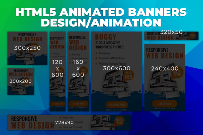 Create html5 animated banners design and animation
