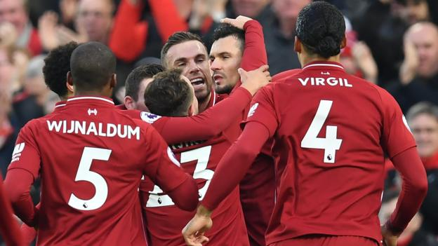 Liverpool extended their lead at the top of the Premier League to six