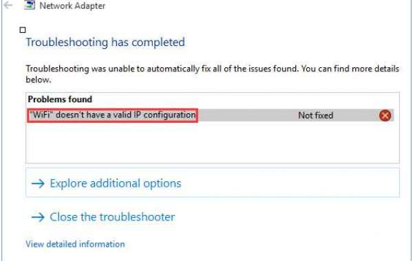 How to Troubleshoot Windows Error 'Wi-Fi doesn't have a Valid IP Configuration'?