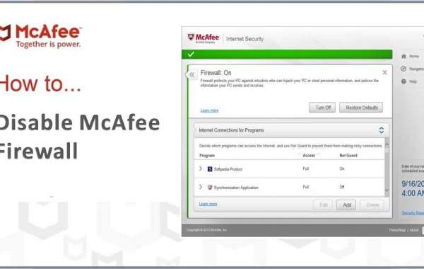 How to Disable McAfee Firewall