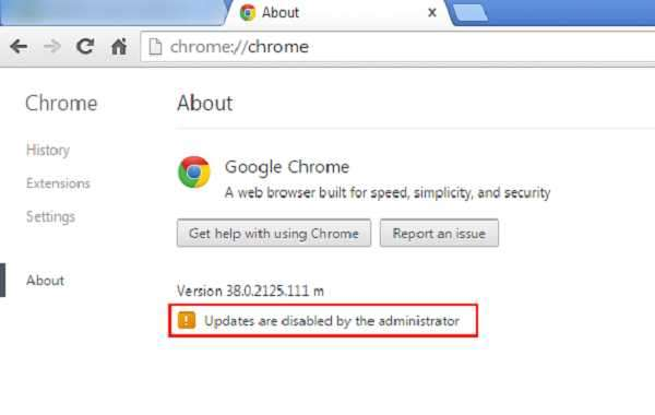 HOW TO TROUBLESHOOT ADMINISTRATOR DISABLES CHROME UPDATES?