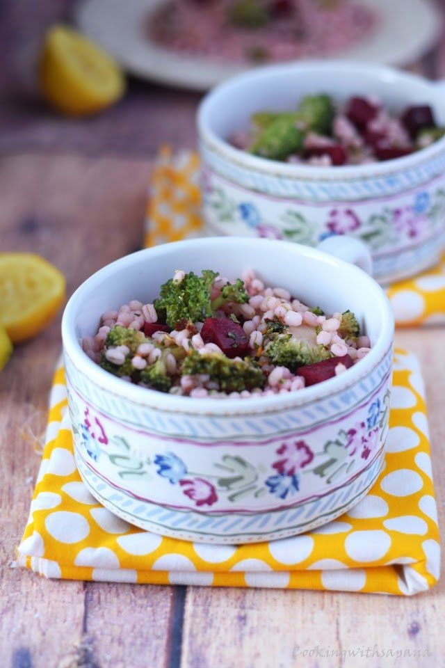 Detox Salad | Beet Barley Broccoli Salad - Cooking With Sapana