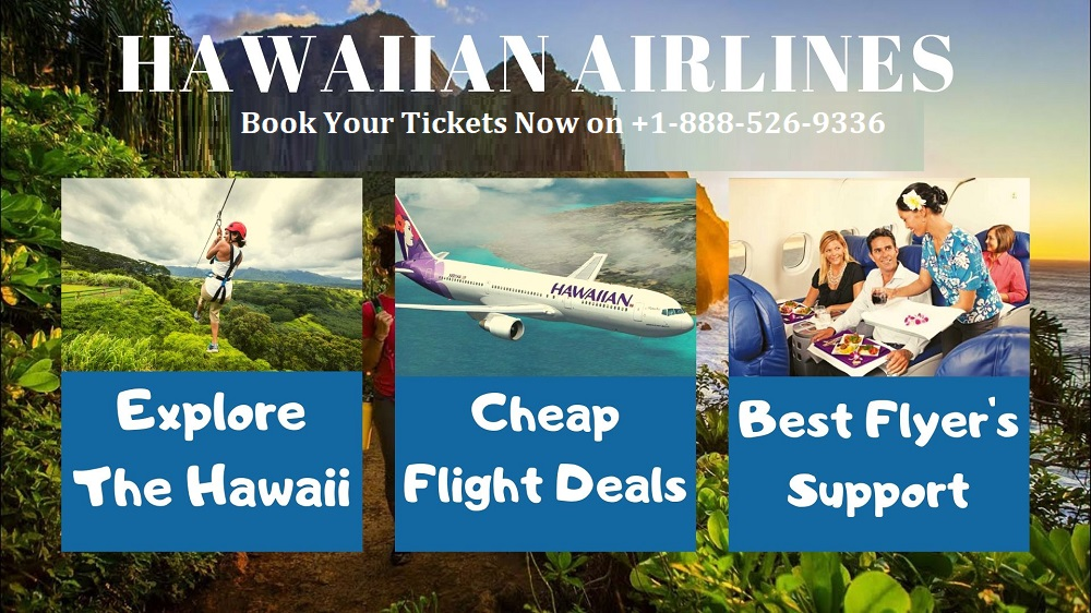 Hawaiian Airlines Reservations +1-888-526-9336 Number Official Site
