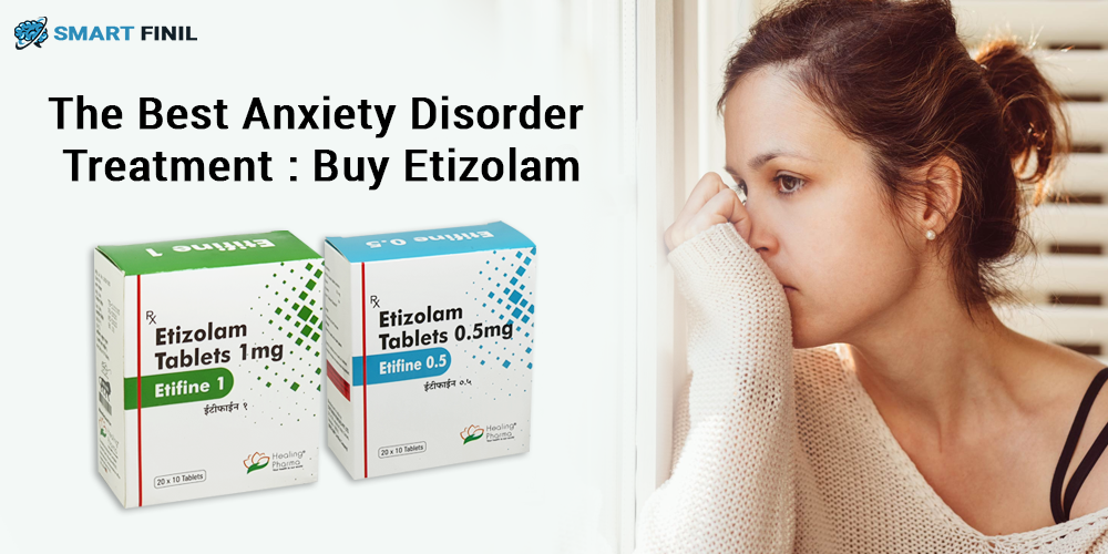 Buy Etizolam 1mg Tablet Online to Overcome Anxiety