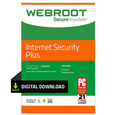 Buy Webroot Internet Security Plus ( 1 year/ 3 Devices) - TalkBest2Buy