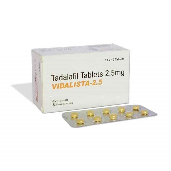 Vidalista 2.5 MG (Generic Cialis): Uses, Dosage | Flatmeds