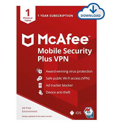 Buy McAfee Mobile Security Plus VPN- TalkBest2Buy