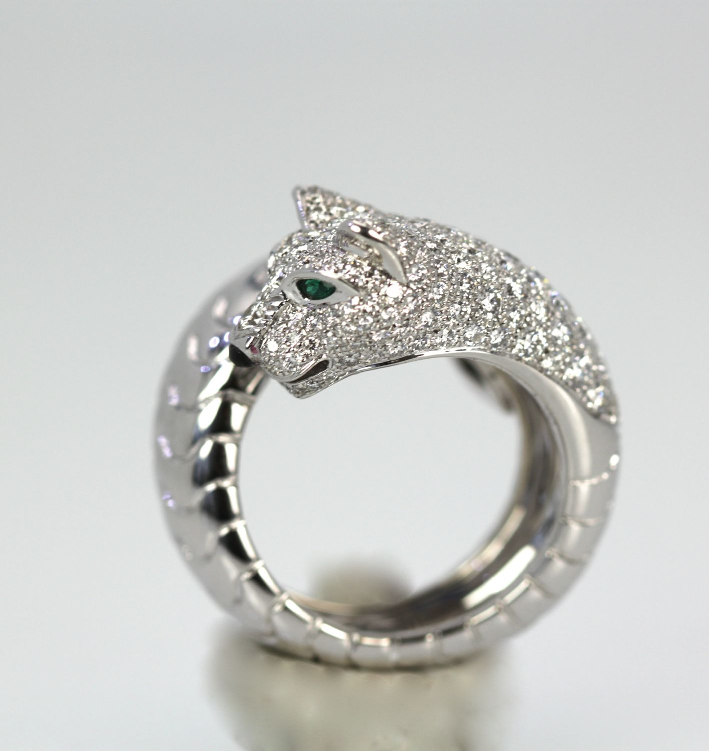 Panthere De Cartier Diamond Head Panther Ring – Cris Notti Jewels