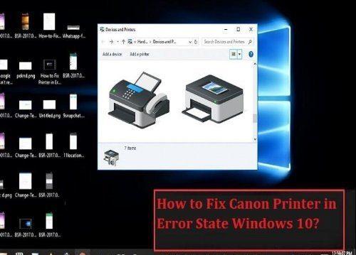 Canon Printer in Error State Windows 10 [How to Fix] | +1-844-200-2814