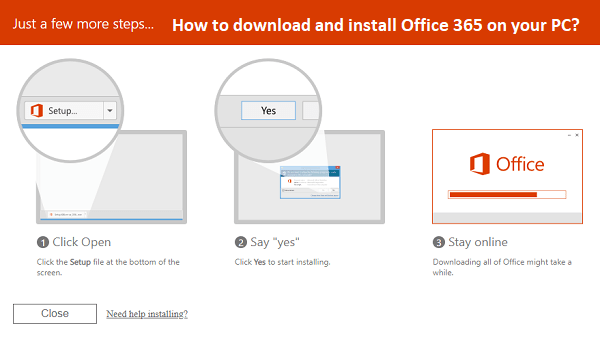 How to download and install Office 365 on your PC? | Officemyoffice