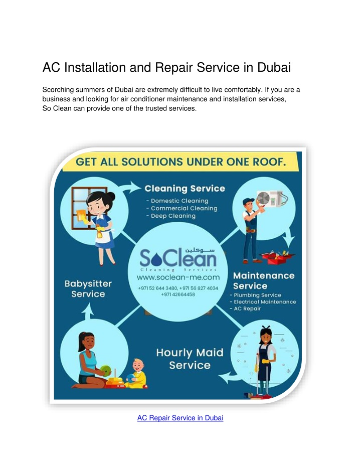 PPT - AC Installation and Repair Service in Dubai PowerPoint Presentation - ID:10446427